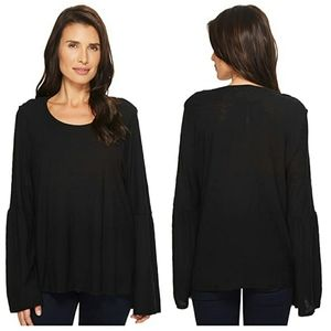 NWT TWO BY VINCE CAMUTO | Bell Sleeve Slub Top